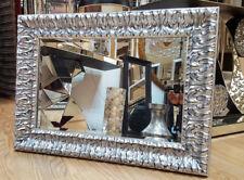 John Lewis Marilyn Bevelled Wall Mirror Ivory Black Silver 123x97cm