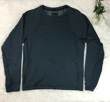 Theory Womens Crew Neck Long Sleeve Polyester Blue Green Sweatshirt Size S/P