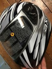 casco integrale axo taglia m 57cm grigio e nero con visiera parasole uomo donna