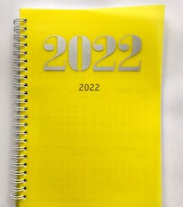 Wochenplaner 2022, DIN A5, Timer, Kalender, Gelb, Wochenkalender Spiralbindung
