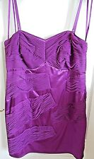 BNWT Glam by Caprice Purple Pink Shimmer Fitted Cocktail Evening Dress size 16