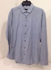 SAKS FIFTH AVENUE MEN'S PUPPYTOOTH SQUARE L/S BUTTON UP SHIRT BLUE MD $75