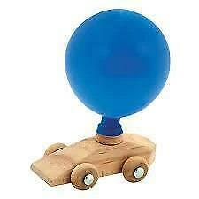 Wooden Balloon Powered Car Educational Toy - 3 Years +