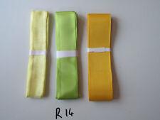 R14 Job Lot 3 Ribbons, Green & Yellow