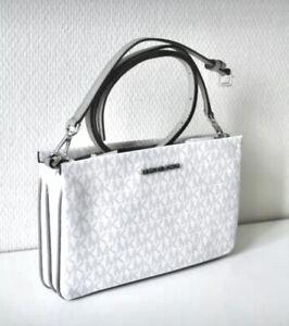 Michael Kors Bag Jet Set Travel LG Triple Gsst cross Body Bright White