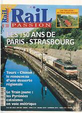RAIL PASSION N° 30 LAC BALATON : NOHAB / BB 8100 / PARIS - STRASBOURG / 180 DB