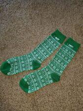 NEW Skyy vodka Green Socks Winter Snowflakes & Martinis design matches sweater