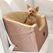 Pet Car Seat Booster Dog Cat Carrier Basket Puppy Safety Auto Chair Small Tan
