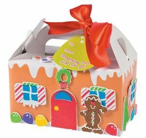 🎄2 Gingerbread House Treat Box Craft Kits! Christmas Give 1, Keep 1 15% OFF $35