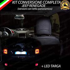 KIT LED INTERNI JEEP RENEGADE COMPLETO + LUCI TARGA LED CANBUS NO ERROR 6000K