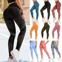 Women Seamless High Waist Gym Pants Trouser Push Up Yoga Leggings Sports Fitness