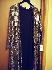 LulaRoe Large Black Elegant Sarah w gold beading..Gorgeous..one of a kind