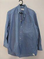 Sportscraft Men's Shirt Size S Blue Check Long Sleeve Made in Australia