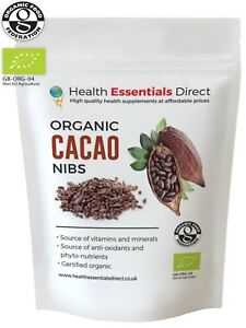 Organic Raw Cacao/Cocoa Nibs (Peruvian Mood Boosting Superfood) Choose Size