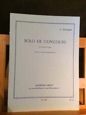 André Messager Solo de concours pour clarinette piano partition éditions Leduc
