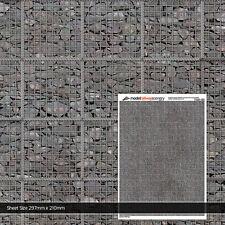 5 x SHEETS GABION RETAINING WALL OO GAUGE 1:76 SCALE MODEL RAILWAY TX201