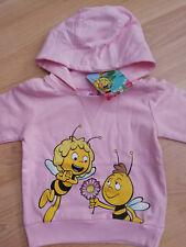 1)Biene Maja / zuckersüßes Sweatshirt mit Kapuze rosa Größe 80