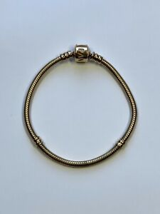 Pandora 14k Yellow Gold Bracelet ! Used .