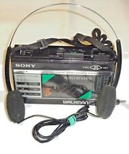 Sony, Walkman WM-F28 [ FM - AM and Cassette Player ] Serial No: 678566, Black