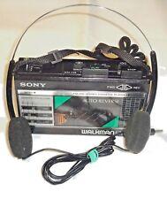 Sony, Walkman WM-F28 [FM-AM e lettore di cassette] Numero di serie: 678566, Nero