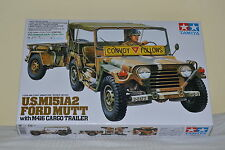 TAMIYA U.S. M151A2 FORD MUTT WITH M416 CARGO TRAILER Scala 1:35 cod.35130