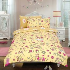 Princess 'Crown' Cream Reversible Rotary Single Bed Duvet Quilt Cover Set Gift