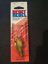 Rebel Deep Wee R Vintage D9339 Gold  Chrome Hor Red / Orange Back White Belly