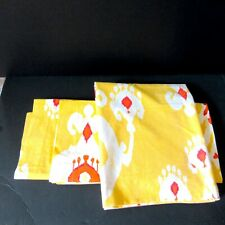 Pottery Barn Cotton 2 Square Shams 1 king size pillow case Sloane Ikat yellow