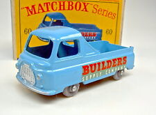"MATCHBOX RW 60a Morris PICK-UP BLU GRIGIE piccole ruote di plastica Top in ""D"" BOX"