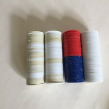BICYCLE POKER CHIPS 200 POKER CHIPS RED WHITE BLUE TAN