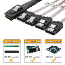 Mini SAS SFF-8087 36-PIN to 4 SATA 7-PIN HD Splitter Breakout Adapter Cable 1M