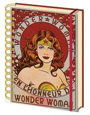 A5 Notizbuch DC Comics - WONDER WOMAN - En L'Honneur De Liniert SR72369 NEU