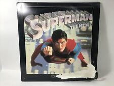 Vintage Superman The Movie Dual Laserdisc 1978 Reeve Cooper Brando Donner Academ