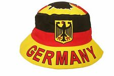GERMANY COUNTRY FLAG WITH EAGLE BUCKET HAT .. ADULT SIZE : 7 3/8 .. NEW