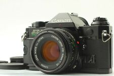 [Exc+++++] CANON AE-1 Program Black 35mm SLR  w/New FD 50mm f1.8 From JAPAN #275