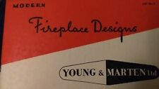 Fireplaces Designs 1910-60s art deco Retro. Stoves Young & Marten UK.Woodburners