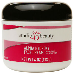 Studio 35 alpha hydroxy face cream 4 oz **NEW** 7.8% AHA of 70% solution