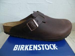 Birkenstock Clogs Boston Mules Sabot Braun Leather 0860131 New
