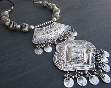 Unique Statement Jewelry Coin Bold Chunky Collar Necklace Boho Belly Dance Gift