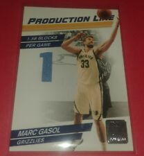 2010-11 Donruss MARC GASOL Production Line Game-Used Insert GRIZZLIES /399