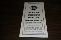 SEPTEMBER 1954 ERIE RAILROAD FORM 7 MAIN LINE/NEWARK BRANCH PUBLIC TIMETABLE