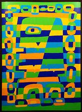 "Jacques Soisson ""Vite Vire Volte"" Hand Signed Fine Art Serigraph 1981 Make Offer"
