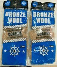 Homax Bronze Steel Wool Coarse 2 packs of 3