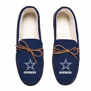Dallas Cowboys NFL Team Colored Men's Moccasin Slippers