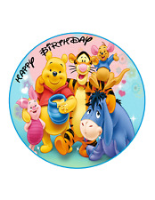 WINNIE THE POOH EDIBLE Cake Image Personalized Birthday Decoration Party Topper