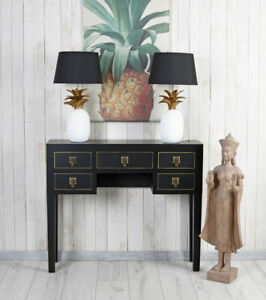 Table Console Side Table Chinoiserie Jewelry Chest of Drawers Bedside Table