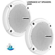 "LOWRANCE PAIR 6.5"" SPEAKERS - 200W Low Magnetic Speakers Coaxial Two-Way Design"