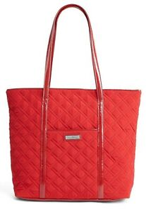 """VERA BRADLEY~""""TRIMMED VERA"""" EXTRA LARGE TOTE BAG~TANGO RED~NWT!"""