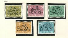 Netherlands 1952 stamps for the child Bob Mh Nvph# 596-600 mint hinged (#B8)