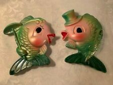 1969 Miller Studio Chalk Ware Fish Mr. And Mrs.